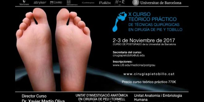 X Curso Teórico Práctico de Técnicas Quirúrgicas en Cirugía de Pie y Tobillo